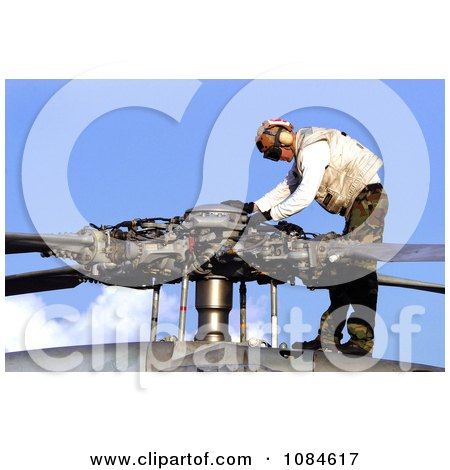 Aviation Electrician's Mate 2nd Class Justin Williams Conducting A Pre-Flight Check On A Seahawk Propeller - Free Stock Photography by JVPD
