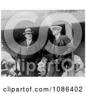 Babe Ruth And Ban Johnson Smoking Free Historical Baseball Stock Photography