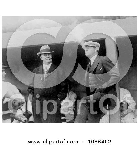 Babe Ruth and Ban Johnson Smoking - Free Historical Baseball Stock Photography by JVPD