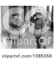 Babe Ruth And John J Pershing In Uniforms Saluting Each Other Free Stock Photography by JVPD