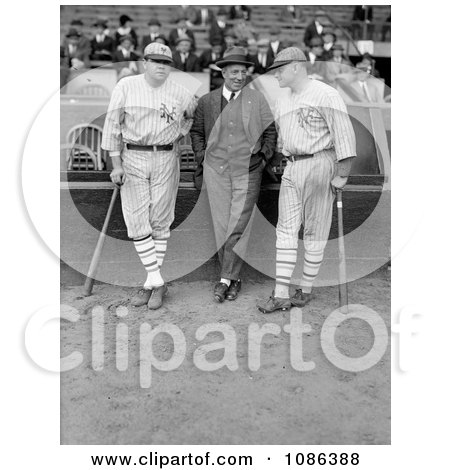 Babe Ruth, Jack Bentley, and Jack Dunn - Free Historical Baseball Stock Photography by JVPD