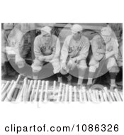 Babe Ruth Sitting In A Dugout With Bill Carrigan Jack Barry And Vean Gregg Free Historical Baseball Stock Photography by JVPD