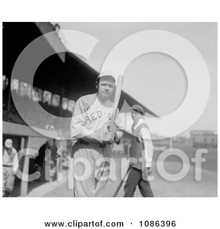 Babe Ruth With a Bat - Free Historical Baseball Stock Photography by JVPD