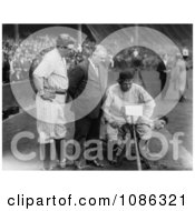 Babe Ruth With John Mcgraw Nick Altrock And Al Schact Free Historical Baseball Stock Photography by JVPD