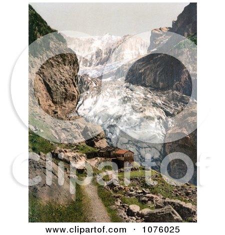Baregg Inn Hotel Near Baregg Glacier in Grindelwald, Bernese Oberland, Switzerland - Royalty Free Stock Photography  by JVPD