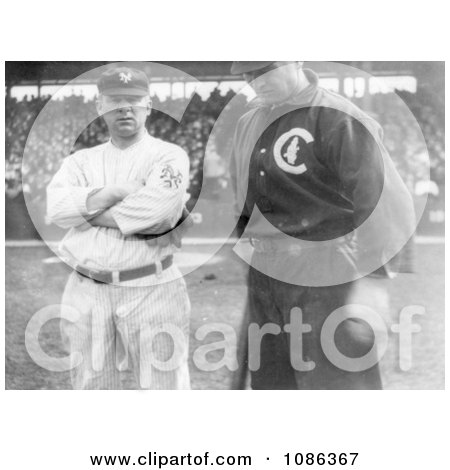 Baseball Players John McGraw and Frank Chance in 1911 - Free Historical Baseball Stock Photography by JVPD