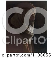 Bedouin Man In Profile Royalty Free Historical Stock Photo