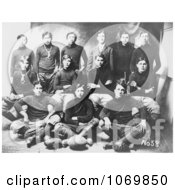 Black And White Photo Of The Osage Native American Indian School Football Team 1910 Royalty Free Sports Stock Photography by JVPD