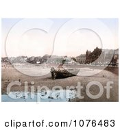 Boat On The Beach In Morecambe Lancashire England UK Royalty Free Stock Photography