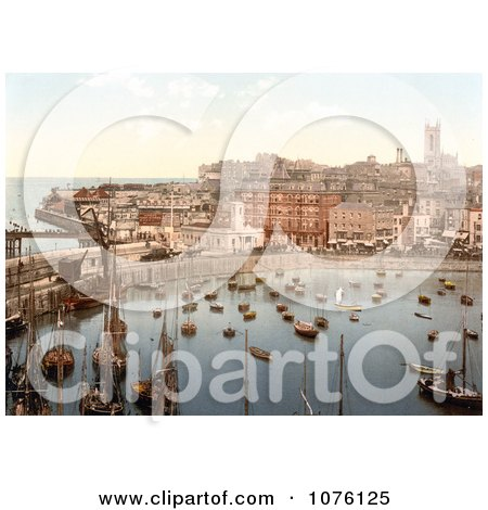 Boats in the Harbor in Margate Thanet Kent England UK - Royalty Free Stock Photography  by JVPD