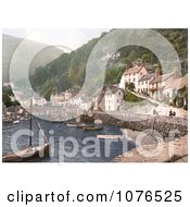 Boats In The Harbour At Lynmouth Devon England Royalty Free Stock Photography