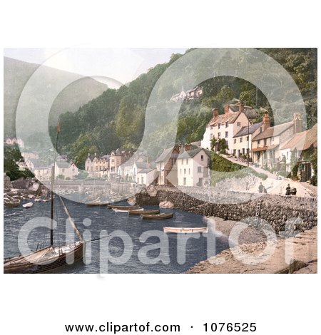 Boats in the Harbour at Lynmouth Devon England - Royalty Free Stock Photography  by JVPD