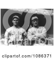 Boston Red Sox Baseball Players Dutch Leonard And Bill Carrigan Free Historical Baseball Stock Photography by JVPD