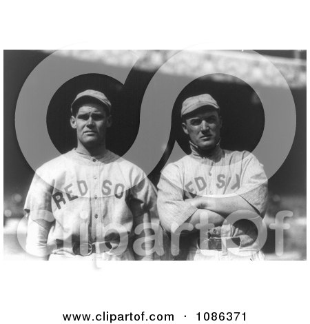 Boston Red Sox Baseball Players Dutch Leonard and Bill Carrigan - Free Historical Baseball Stock Photography by JVPD