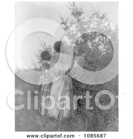 Buffalo Berry Gatherers - Free Historical Stock Photography by JVPD