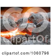 Burning Charcoal Briquettes Royalty Free Stock Photo by Kenny G Adams