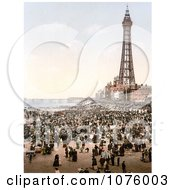 Busy Beach North Pier And Royal Hotel Near The Tower In Blackpool Lancashire England Royalty Free Stock Photography by JVPD