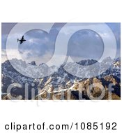 C 130 Hercules By Mountains Free Stock Photography by JVPD