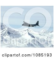 C 130 Hercules Over Alaska Range Free Stock Photography by JVPD
