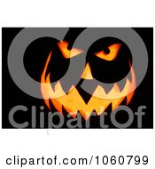 Candles Burning Inside A Scary Jack Olantern Face Royalty Free Halloween Stock Photo