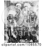 Capt Geo Sword With Buffalo BillS Indians Free Historical Stock Photography