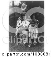 Cayuse Mother With Baby Free Historical Stock Photography