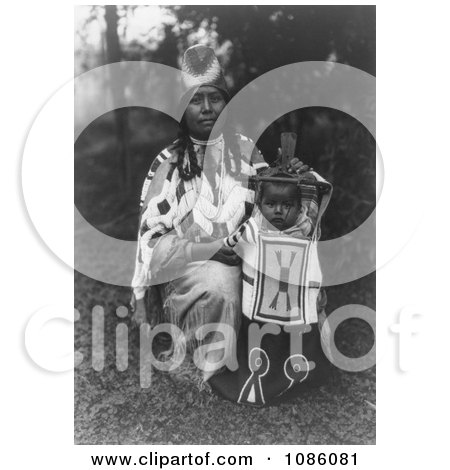 Cayuse Mother With Baby - Free Historical Stock Photography by JVPD