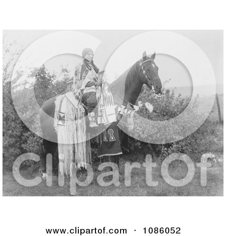 Cayuse Woman on Horse - Free Historical Stock Photography by JVPD