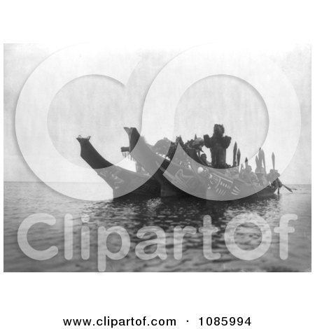 Ceremonial Dancers in Canoes - Free Historical Stock Photography by JVPD