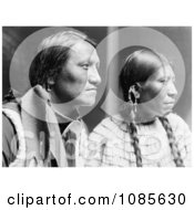 Charging Thunder With Wife Sioux Indians Free Historical Stock Photography