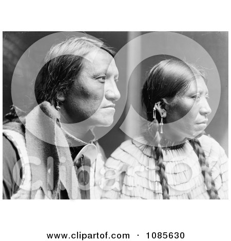 Charging Thunder With Wife, Sioux Indians - Free Historical Stock Photography by JVPD