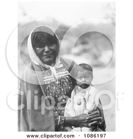 Chemehuevi Indian Mother and Child - Free Historical Stock Photography by JVPD