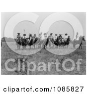 Cheyenne Indian Chiefs On Horses Free Historical Stock Photography