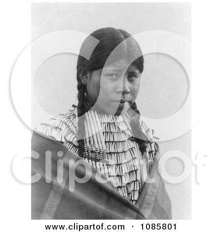 Cheyenne Native Woman Wearing Braids - Free Historical Stock Photography by JVPD