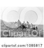 Cheyenne Natives On Horseback Free Historical Stock Photography