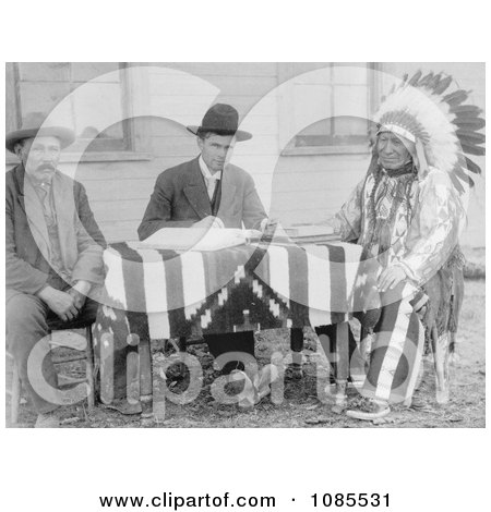 Chief American Horse Becoming an American Citizen - Free Historical Stock Photography by JVPD