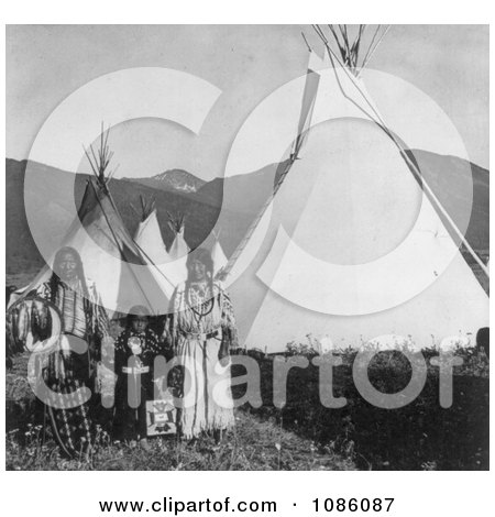 Chief Charlot With Family - Free Historical Stock Photography by JVPD