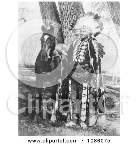 Chief Ignacio With Horse - Free Historical Stock Photography by JVPD