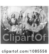 Chief Jack Red Cloud With Sioux Chiefs Free Historical Stock Photography