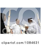 Chief Of Naval Operations Admiral Gary Roughead Speaking With Locals During A Tour Of The Sheika Zayed Grand Mosque In Abu Dhabi United Arab Emirates April 16th 2008 Free Stock Photography