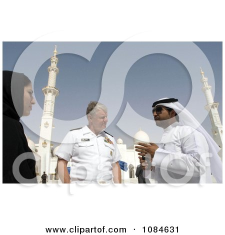Chief Of Naval Operations Admiral Gary Roughead Speaking With Locals During A Tour Of The Sheika Zayed Grand Mosque In Abu Dhabi, United Arab Emirates, April 16th 2008 - Free Stock Photography by JVPD