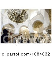Chief Of Naval Operations Admiral Gary Roughead Standing In A Gorgeous Archaded Room Under A Chandelier While Touring The Sheika Zayed Grand Mosque In Abu Dhabi United Arab Emirates April 16th 2008 Free Stock Photography by JVPD