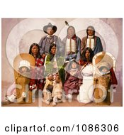 Chief Sevara And Family Free Historical Stock Photography