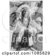 Chief Spotted Crow And Granddaughter Free Historical Stock Photography