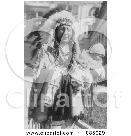 Chief Spotted Crow and Granddaughter - Free Historical Stock Photography by JVPD