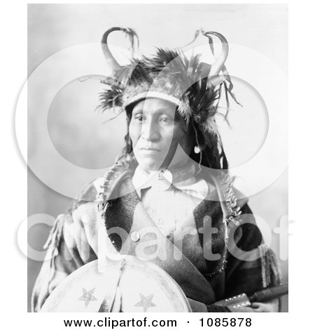 Chief Wets It, Assinaboine Native - Free Historical Stock Photography by JVPD