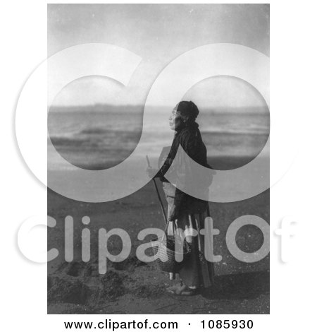 Chinook Woman on Beach - Free Historical Stock Photography by JVPD