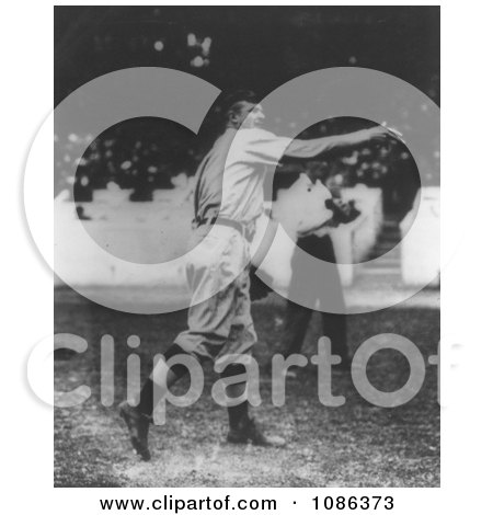 Christy Mathewson, New York Giants Pitcher, Throwing a Baseball - Free Historical Baseball Stock Photography by JVPD