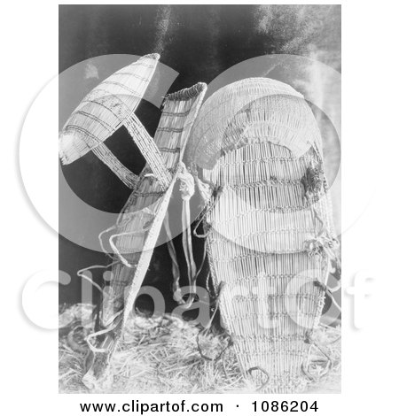 Chukchansi Cradle Baskets - Free Historical Stock Photography by JVPD