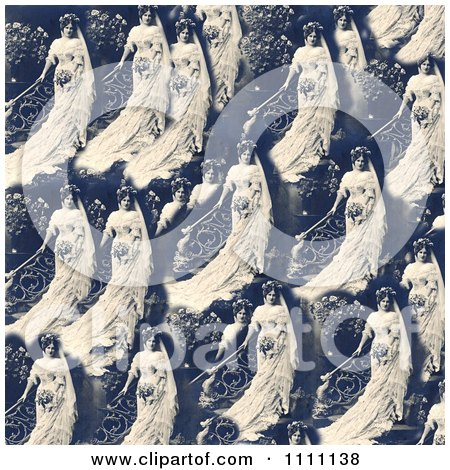 Clipart Collage Pattern Of A Victorian Bride - Royalty Free Historical Stock Photo by Prawny Vintage